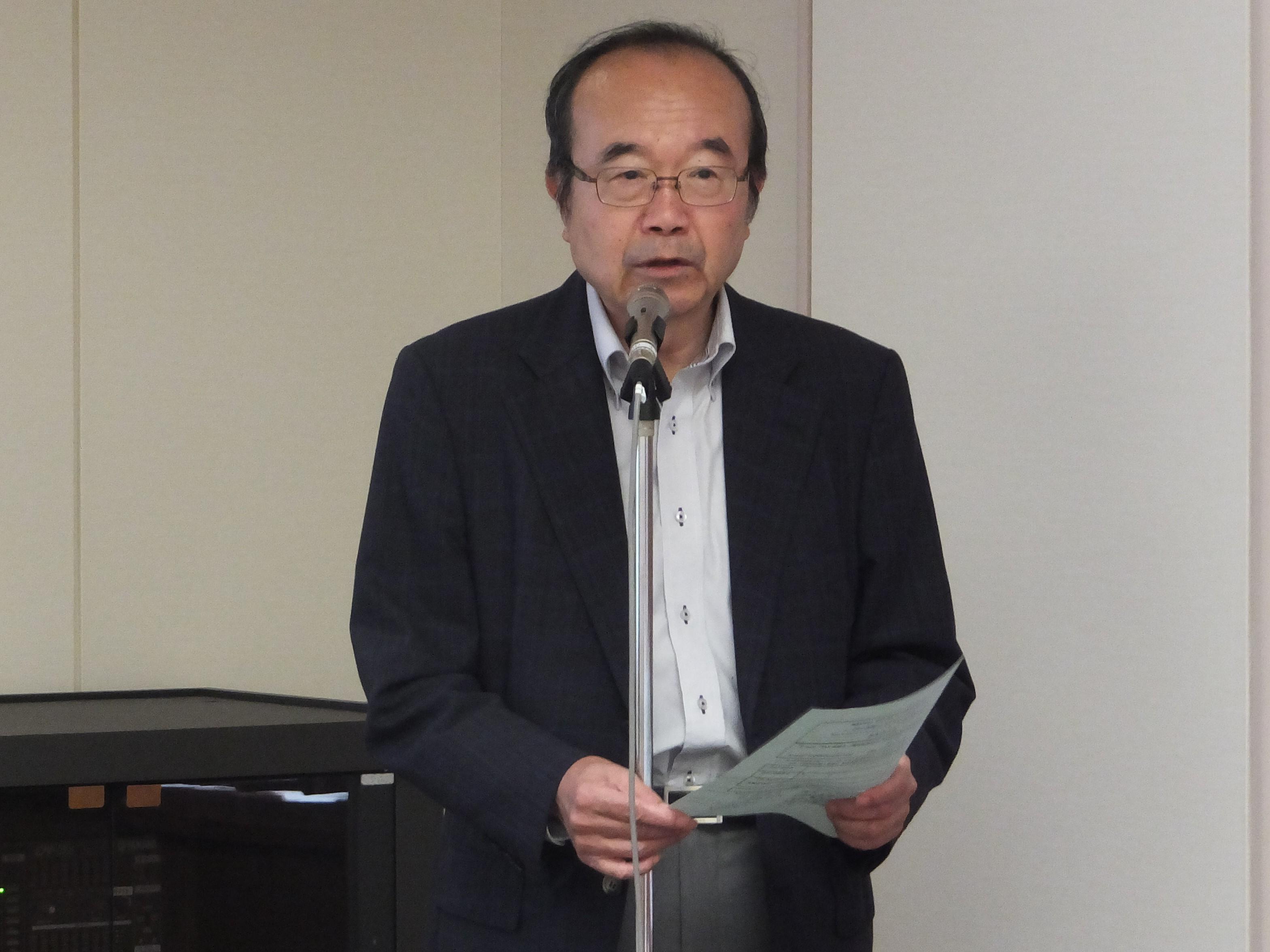 寺田範雄 機械振興協会副会長 兼 経済研究所所長代理 による開催の挨拶