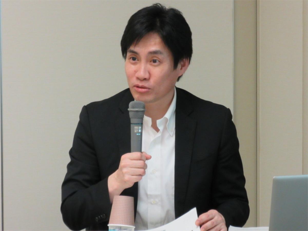 経済産業省 製造産業局 太田 雄彦 総務課長 による講演の様子